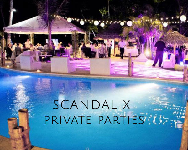 SCANDAL X – private parties